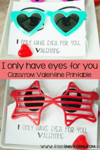 I only have eyes for you classroom printable. Just add sunglasses www.freetimefrolics.com