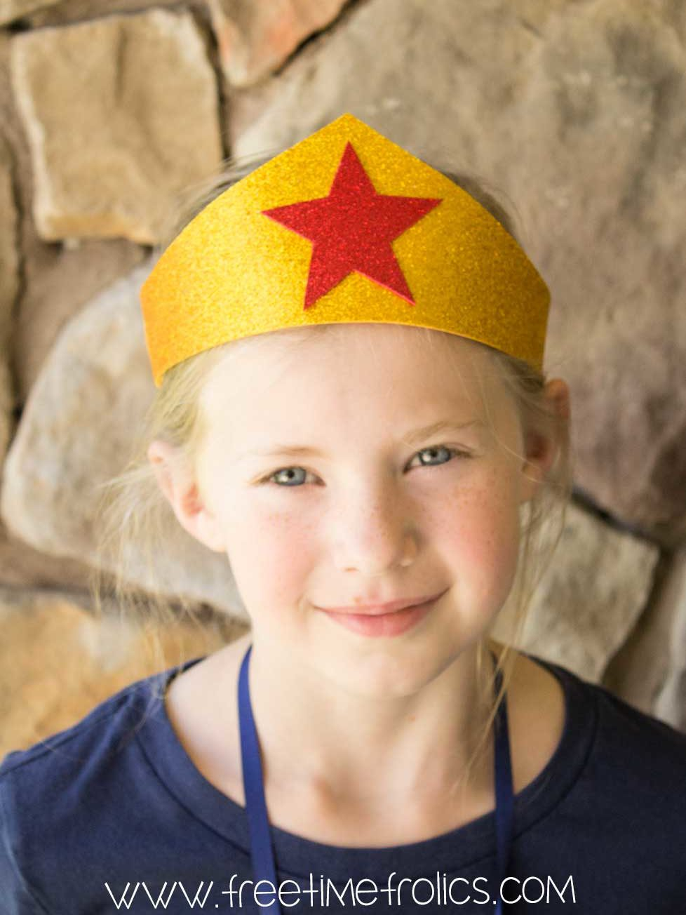 Wonder Woman Crown Headband Free Time Frolics