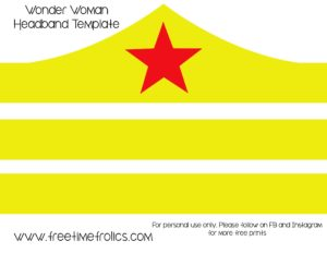 wonderwoman headband template via www.freetimefrolics.com
