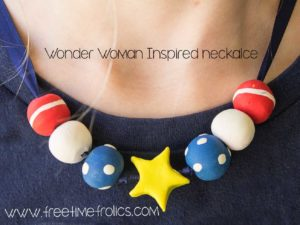 Wonder Woman inspired necklace www.freetimefrolics.com