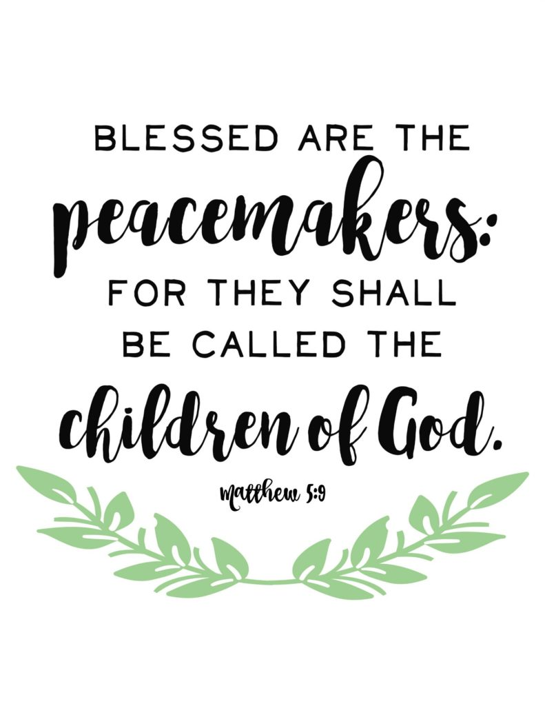 Blessed are the Peacemakers family motto @freetimefrolics.com