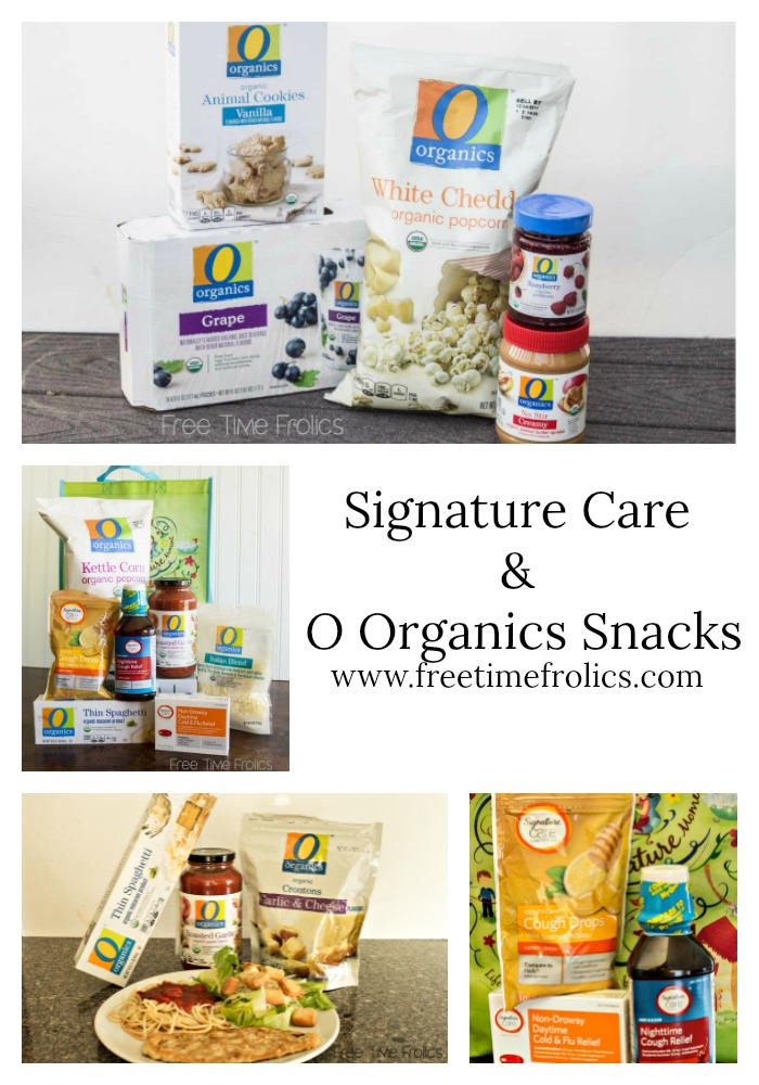 Signature Care Wellness products & O Organic healthy snacks @ Albertsons www.freetimefrolics.com
