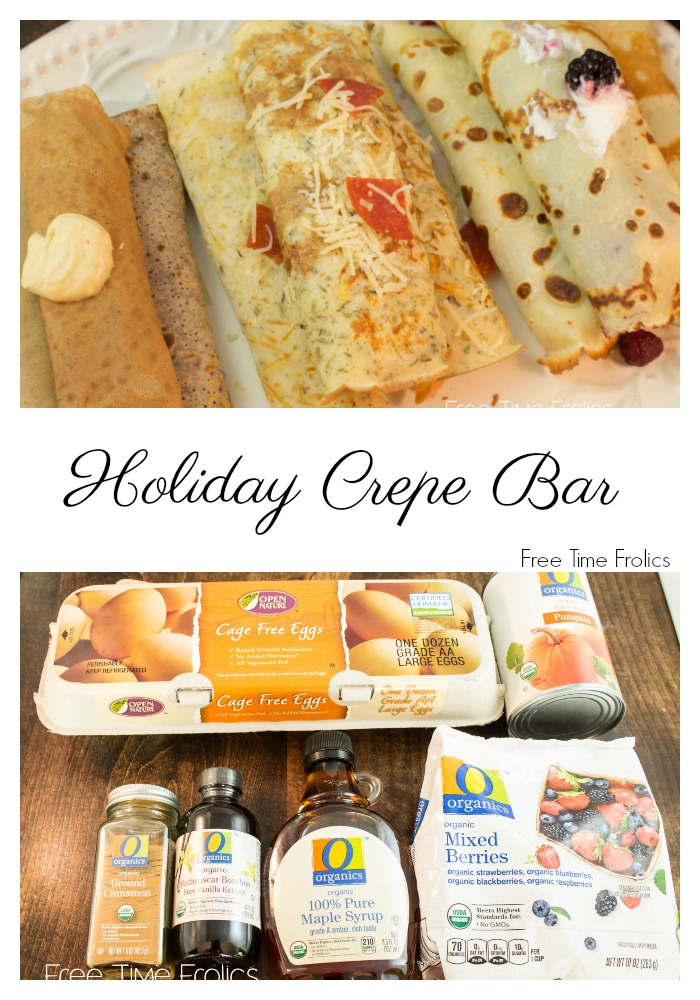 holiday crepe bar #ad www.freetimefrolics.com