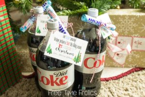 Diet Coke and Mentos neighbor Gift idea www.freetimefrolics.com