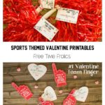 Sports Fan classroom printable valentine