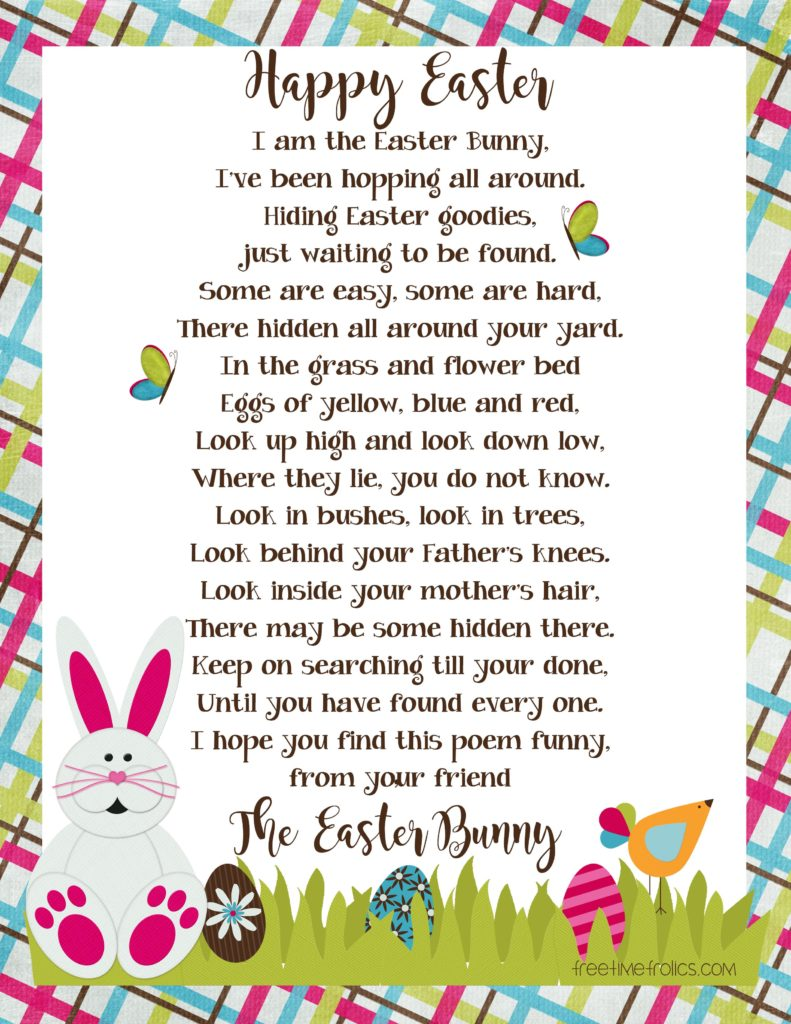 picture regarding Letter From Easter Bunny Printable identify Easter Bunny Letter - Totally free Period Frolics